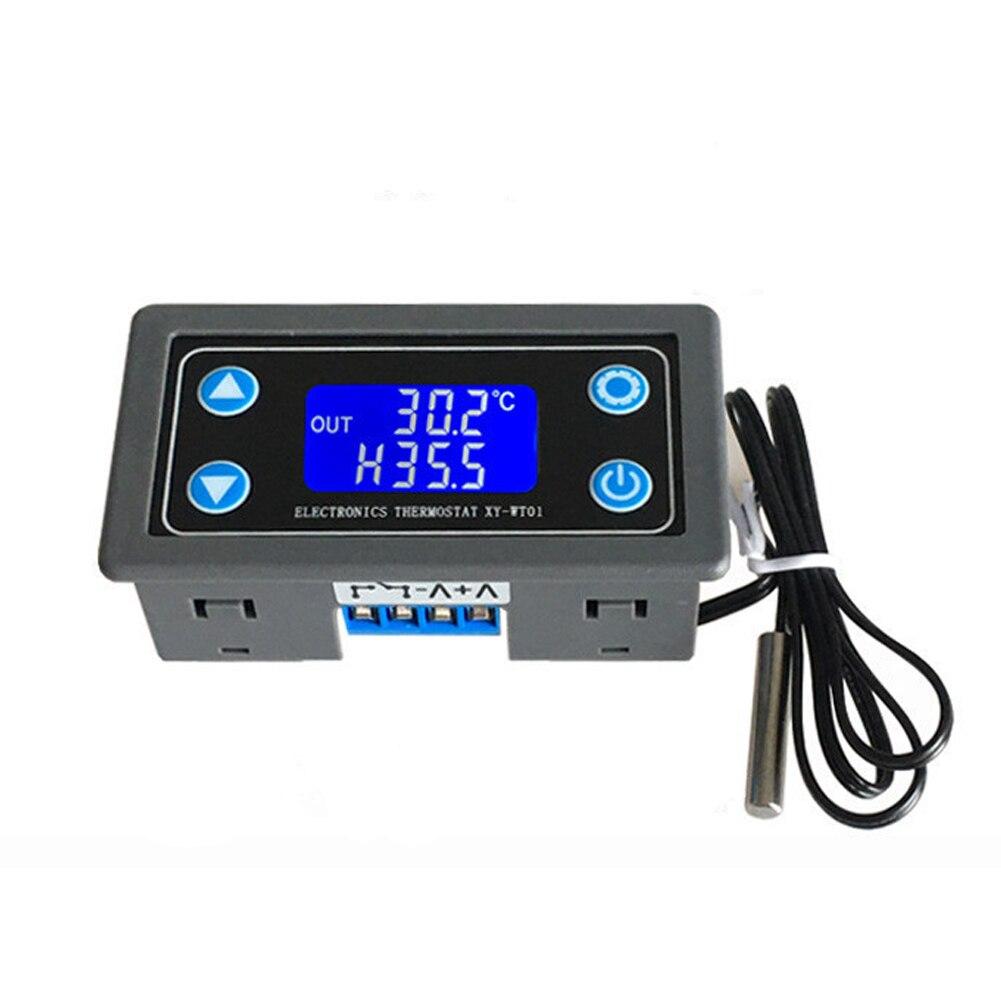 12 v 24 v 10a profissional sensor digital termostato ventilação interna display lcd controlador de temperatura digital térmica