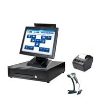 cheapest whole set point of sales dual screen pos terminal reliable touch all in one pos system for salon hotel