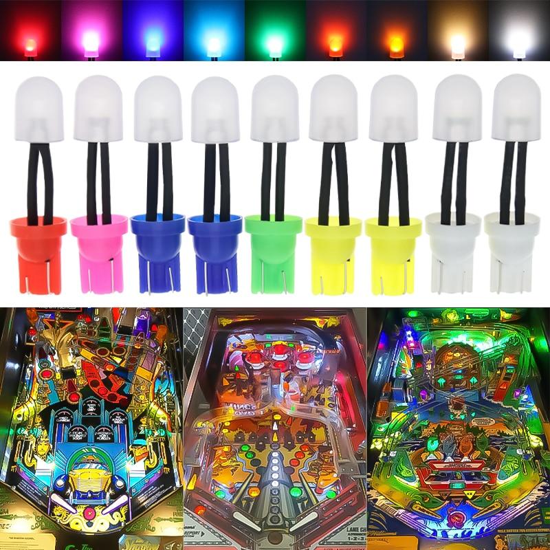 100pcs AC 6V 6.3V T10 W5W 194 168 Non Polarity Car Interior Side Wedge Light Bulb Pinball Game Machine Lamp Console lights