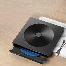 Внешний CD DVD привод, Тип C USB 3,0 Портативный внешний CD DVD привод горелки совместим с Mac/Windows оптический привод CD DVD-RW W
