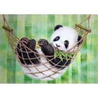 5d diy diamond painting animals lovely panda embroidery full square diamond cross stitch rhinestone mosaic painting decor gift