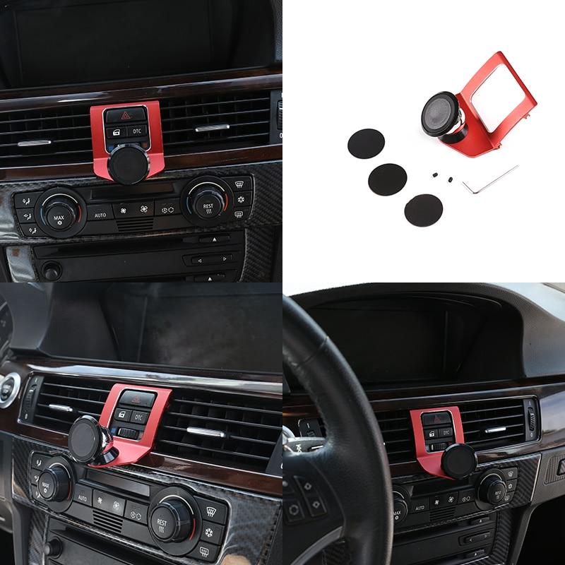3 Style Car Air Vent Mobile Phone Holder Magnetic Aluminum Alloy For BMW 3 Series E90 E92 E93 2005-2012