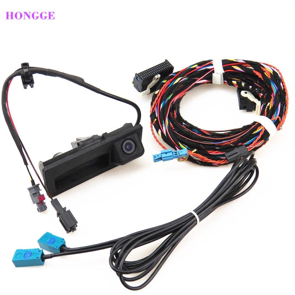 HONGGE nueva RGB marcha atrás cámara de vídeo + Cable arnés para A4 A6 Q5 A7 S6 RCD510 RNS310 5ND 827 566C 5N0827566C