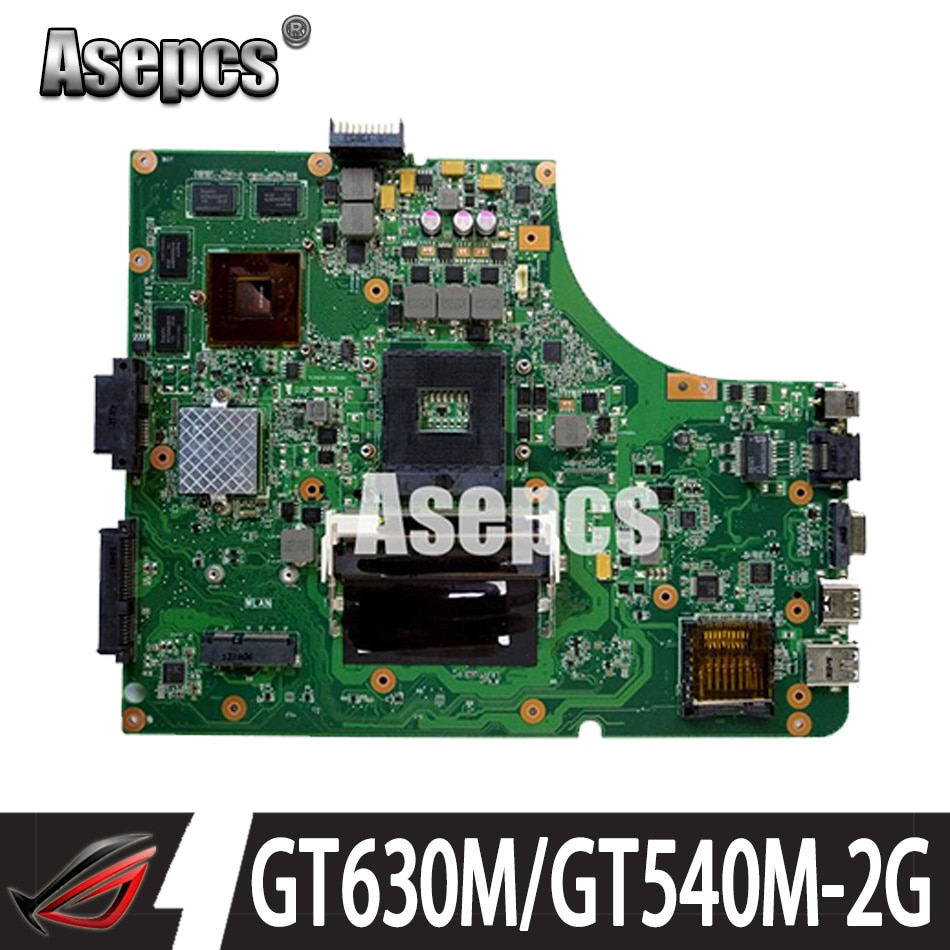 Review Asepcs K53SV Laptop motherboard For Asus K53SM K53SC K53S K53SJ P53SJ A53SJ Test original REV2.1/2.4/3.0/3.1GT630M/GT540M-2GB