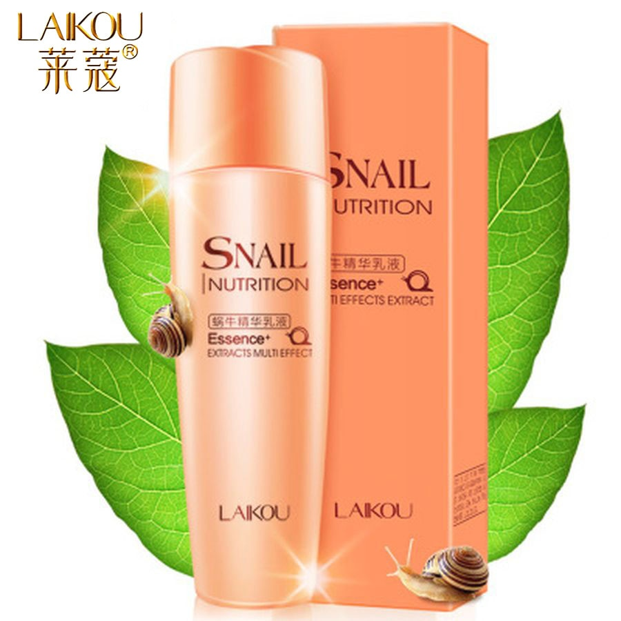 LAIKOU Snail Facial Serum Face Essence Anti Wrinkle Hyaluronic Acid Aging Whitening Moisturizing Face Care Skin Serum Essence laikou hyaluronic acid face serum moisturizing shrink pores whitening brightening tighten facial essence liquidskin care 15ml