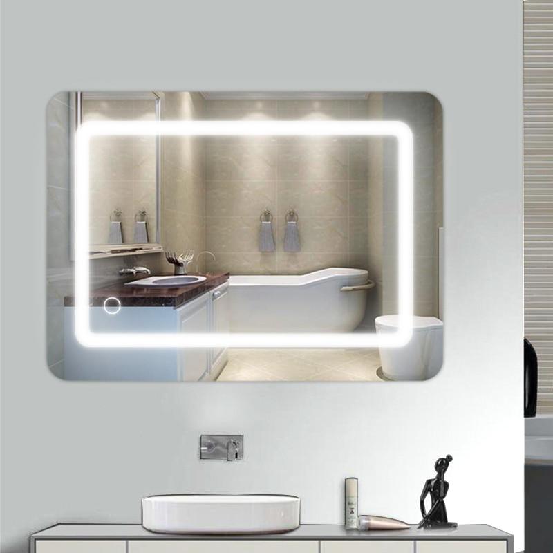 Wall Mounted Bathroom Mirror Rectangular Touch Switch Anti-fog Bathroom Mirror With Led Light LED Bathroom Mirror enlarge