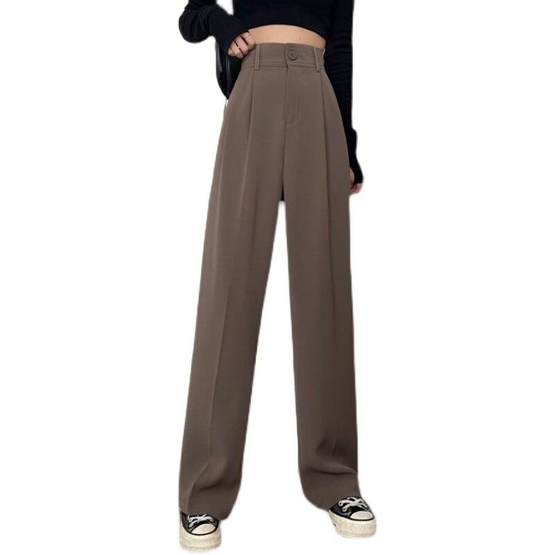 Женские повседневные брюки до щиколотки с высокой талией и завышенной талией