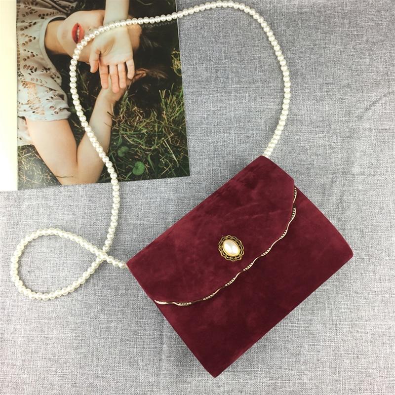 Luxy lua de veludo aleta bolsa feminina com corrente pérola preto elegante bolsa de ombro saco embreagem casamento bolsa festa zd1468