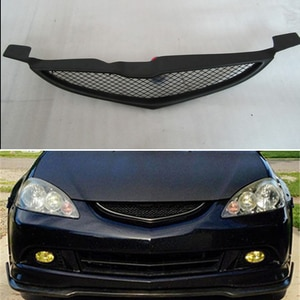 Use For Acura RSX Honda Integra 2005 2006 Carbon Fibre Refitt Front Center Racing Grille Cover Accessorie Body Kit Zonsuve