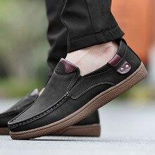 DM383 Fashion men's shoes Men Leather Shoes Casual Men Shoes Male Leather Shoes Slip On Men Loafers