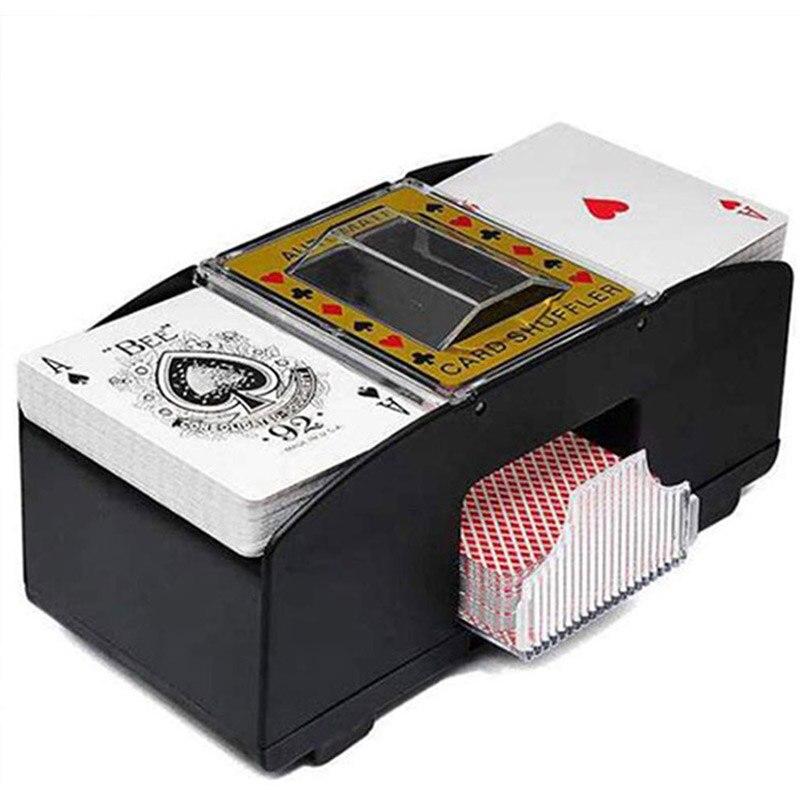 Máquina de barajado de cartas de póquer automático a batería máquina de barajado Casino accesorios baraja