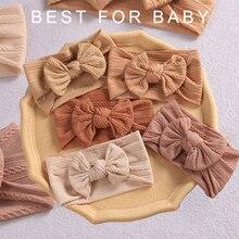 Diadema con lazo para bebé y niño, turbante elástico con lazo, accesorios para el cabello, 32 colores