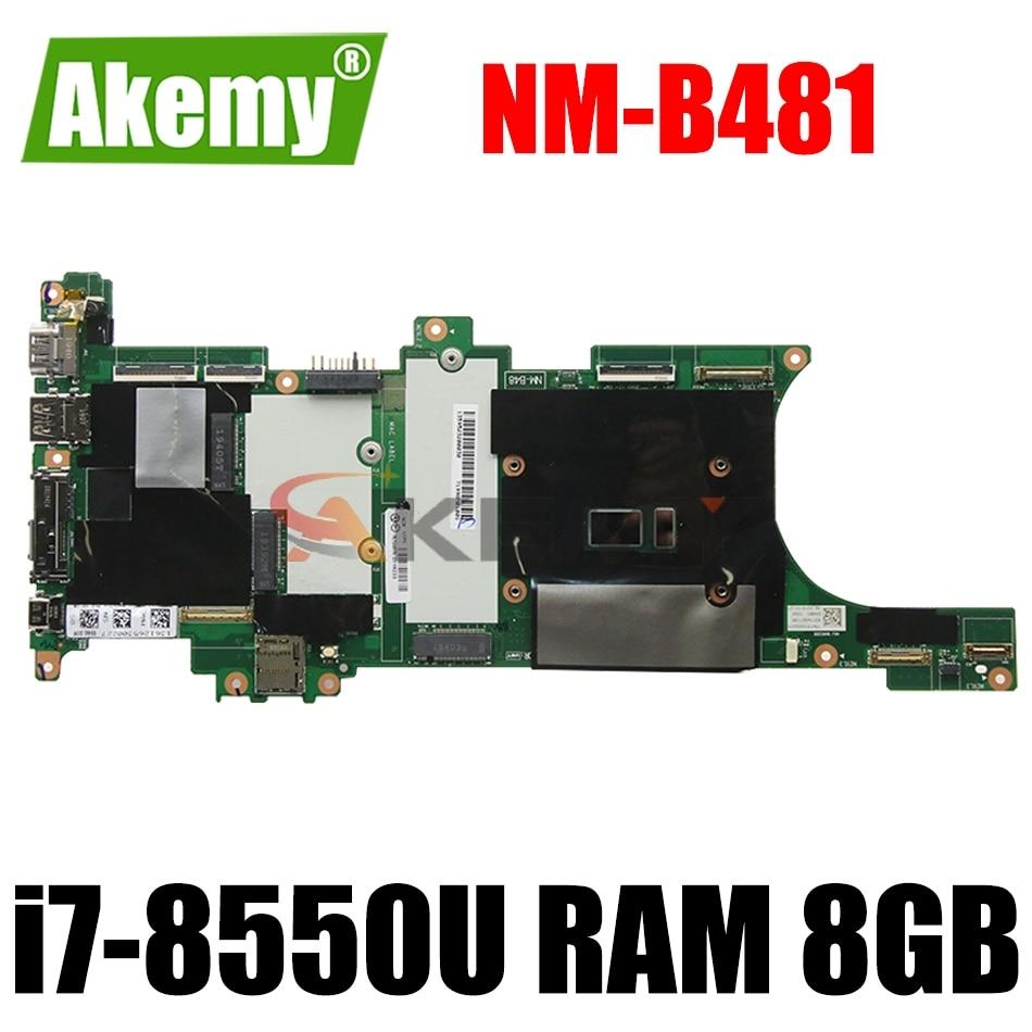 لينوفو ثينك باد X1 الكربون 6th 2018 اللوحة الأم للكمبيوتر المحمول ث/وحدة المعالجة المركزية i7-8550U ذاكرة الوصول العشوائي 8GB NM-B481 FRU 01YR228 01YR209 100% اختبار...