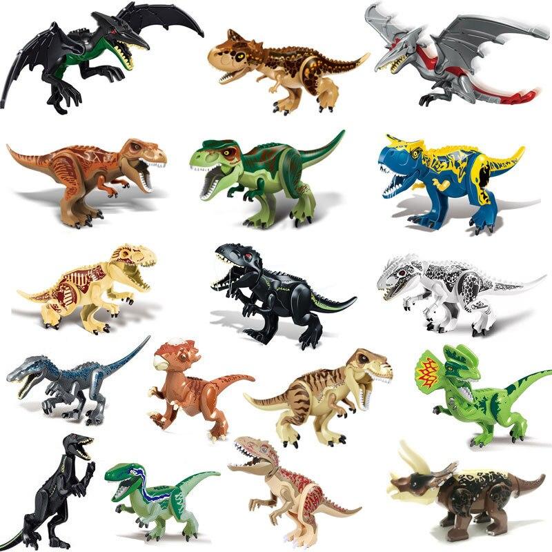 Обучающая головоломка, строительный динозавр, сборные кирпичные персонажи, динозавр Птерозавр, игрушка-Раптор, детский подарок для детей