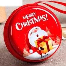 Рождественская сумка для хранения с подвеской в виде Санты Клауса, коробка для денег с usb-кабелем, держатель для монет в качестве рождествен...