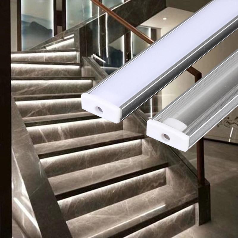 2-30 sets / lot 0,5 m 12 mm LED streifen aluminium profil für LED linear leuchte, LED aluminium profil flache aluminium körper