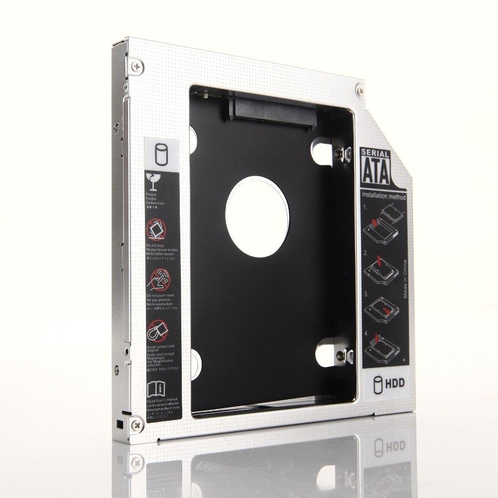 2nd HDD Disco Duro SSD óptico Caddy marco adaptador para Dell Studio 15 17 1747, 1555, 1557, 1558 Inspiron 1440 1545, 1564, 1750, 1764
