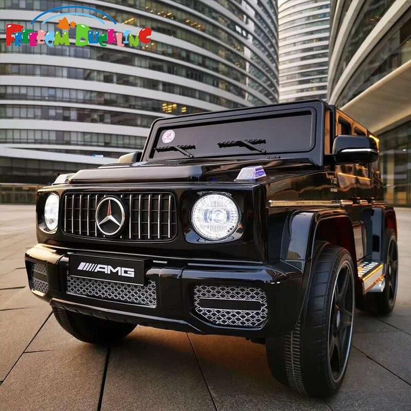 Kinder extra große 4-räder 12V 7A elektrische auto Kinder vier-rad stick mit fernbedienung weiche sitz SUV Baby auto können fahrt auf