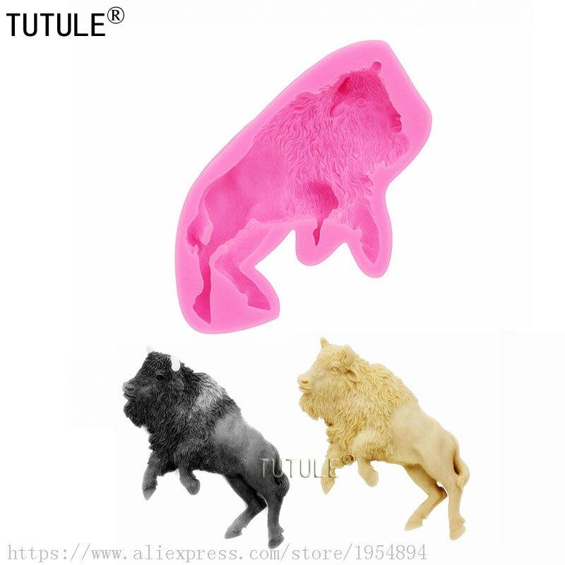 Molde Mao Niu, molde de silicona de vaca, molde flexible, molde hecho a mano, molde de vaca, molde de empuje de silicona-moldes de silicona brillantes/llaveros
