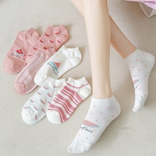 Socks Women's Socks Ankle Socks Spring and Autumn Thin Spring and Summer Shallow Mouth Summer Japane
