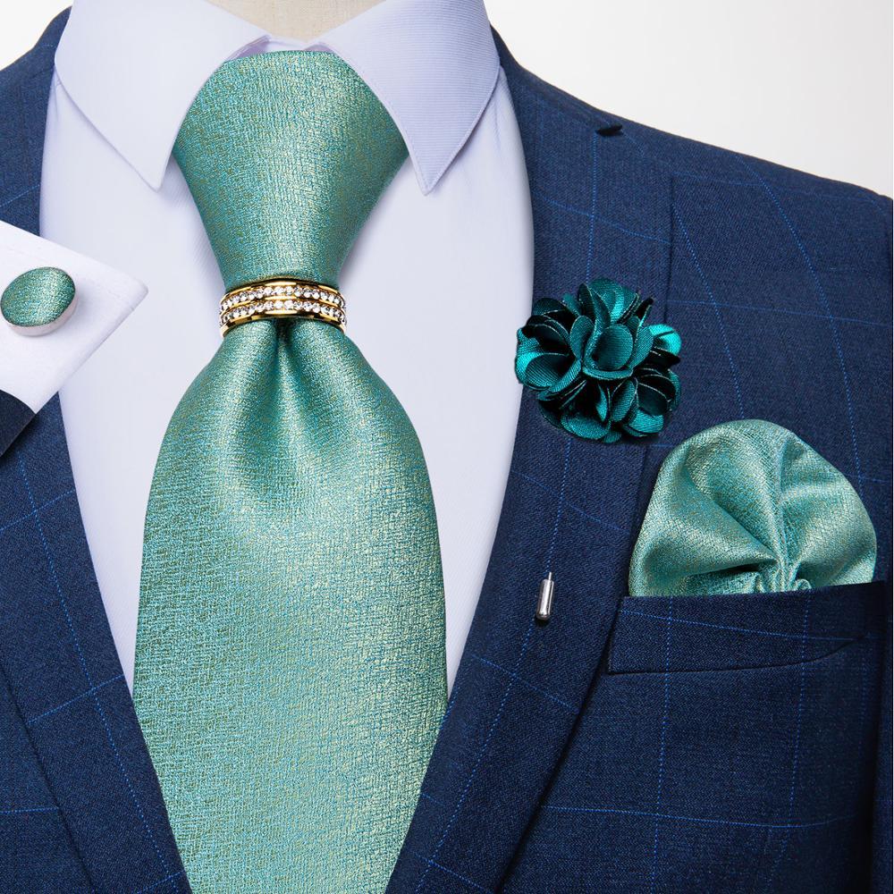 Темно-синие мужские галстуки 8 см Новая мода формальный бизнес свадебная брошь галстук кольцо для галстука Hanky запонки набор мужской подаро...