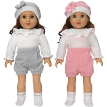 18Inch Girls Doll Clothes Set Hat 43 Baby Dolls Wears Children Girl Birthday Gifts