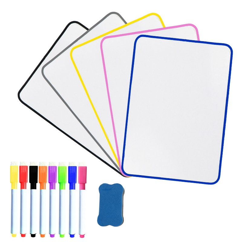 Magnetic Whiteboard Erasable Double Side Board for Notes Drawing Graffiti Writing for Kids Mini Office School Supplies A4 Size