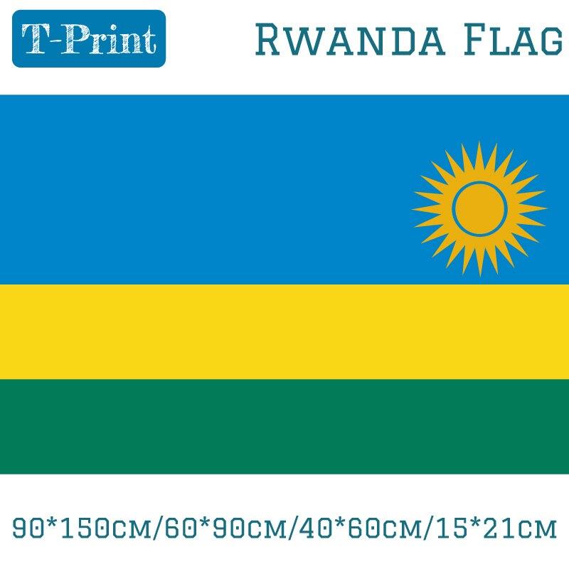 10 Uds bandera 90*150cm/60*90cm/40*60cm/15*21cm Bandera de Ruanda 3x5ft Copa del Mundo/Día Nacional/Juegos Olímpicos