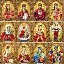 Bricolage diamant peinture Religion icône affichage complet strass plein carré diamant broderie point de croix mosaïque décor à la maison Jq592