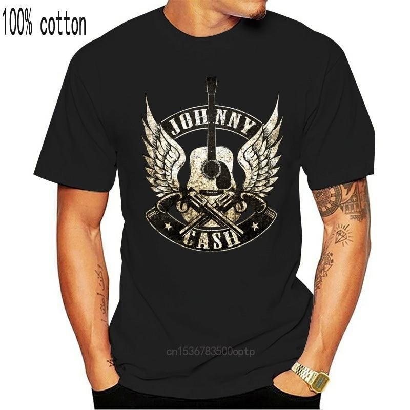 New Johnny Cash Guns T-Shirt - 2021 Novelty Mens T-Shirts for Men 3 D Printed Short Sleeve Men Tops T Shirt