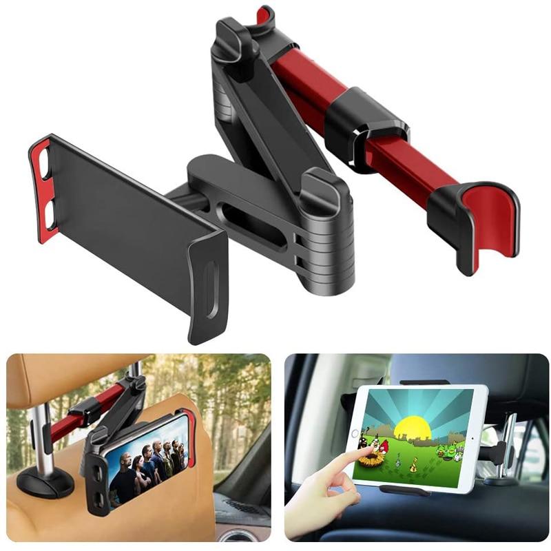 Samochodowy Tablet uchwyt stojak na Ipad 2/3/4 Air Pro 7-11 Cal telefon uniwersalny GPS stojak uchwyt tylnym siedzeniu samochodu do montażu na 360 obrót