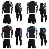 gym joggers mens running set fitness clothing quick drying compression sports suit high quality long sleeves t shirt