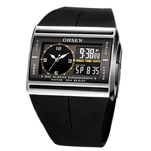 Digital Analog Watch Men LED Luminous Date Rubber Band Sport Mens Boys Wrist montre homme часы мужские наручные