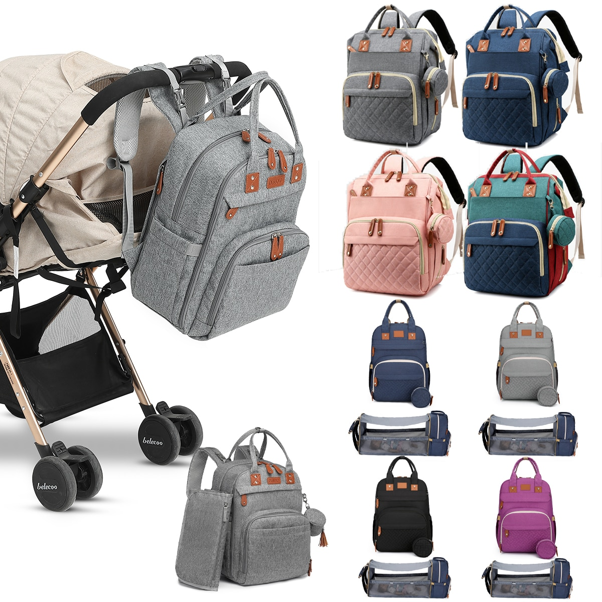 Diaper Bag Nappy Backpack Mummy  Bag Maternity Packages Multi-function  Waterproof Outdoor Travel Diaper Bags For Baby Care недорого