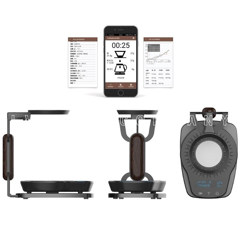 Ultrakoki الذكية مقياس القهوة اليد تختمر الإلكترونية ثنائي النطاق التطبيق في الوقت الحقيقي العرض