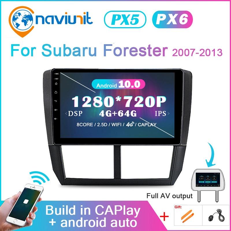 autoradio 2 din Android 10 PX6 pour Subaru Forester Impreza 2007-2013 2din auto audio voiture stéréo Navigation bluetooth multimédia