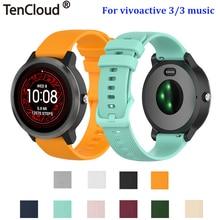 Bracelet en Silicone pour Garmin vivoactive 3 Forerunner 245 645 musique montre intelligente accessoires bracelet de remplacement bracelet boucle