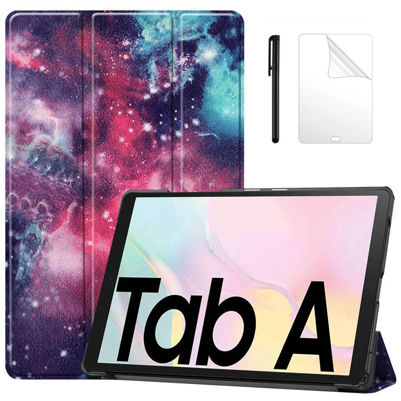 Capa dobrável para tablet, samsung galaxy tab a7 t500 t505 t47 10.4, capa com suporte para samsung galaxy tab a7 2020