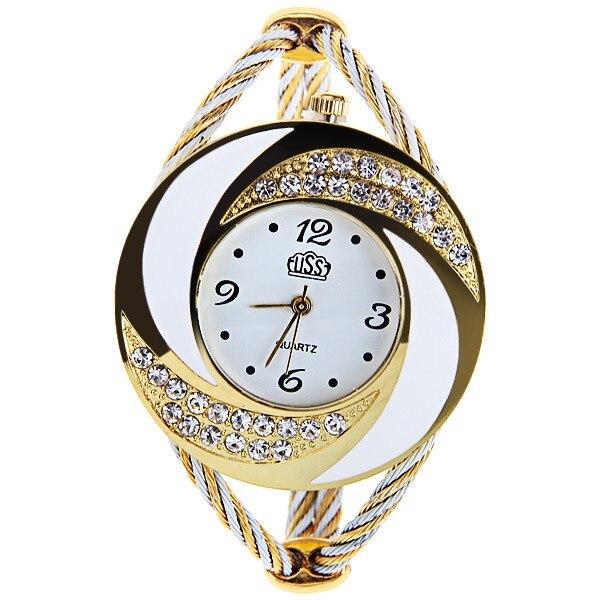 Relógio de pulso de quartzo feminino relógio de pulso de quartzo de moda de estilo único de strass relógio de pulso feminino senhoras zegarek damski relojes mujer