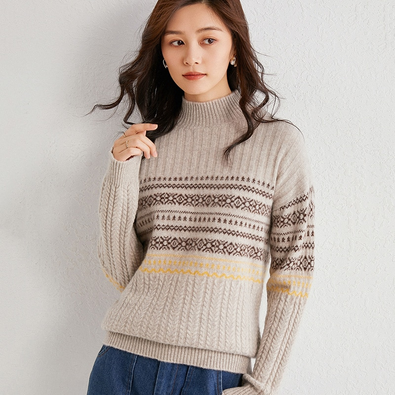 autumn-and-winter-half-high-neck-100-pure-wool-sweater-full-sleeve-pullover-ladies-knitted-striped-sweater-hot-new-product
