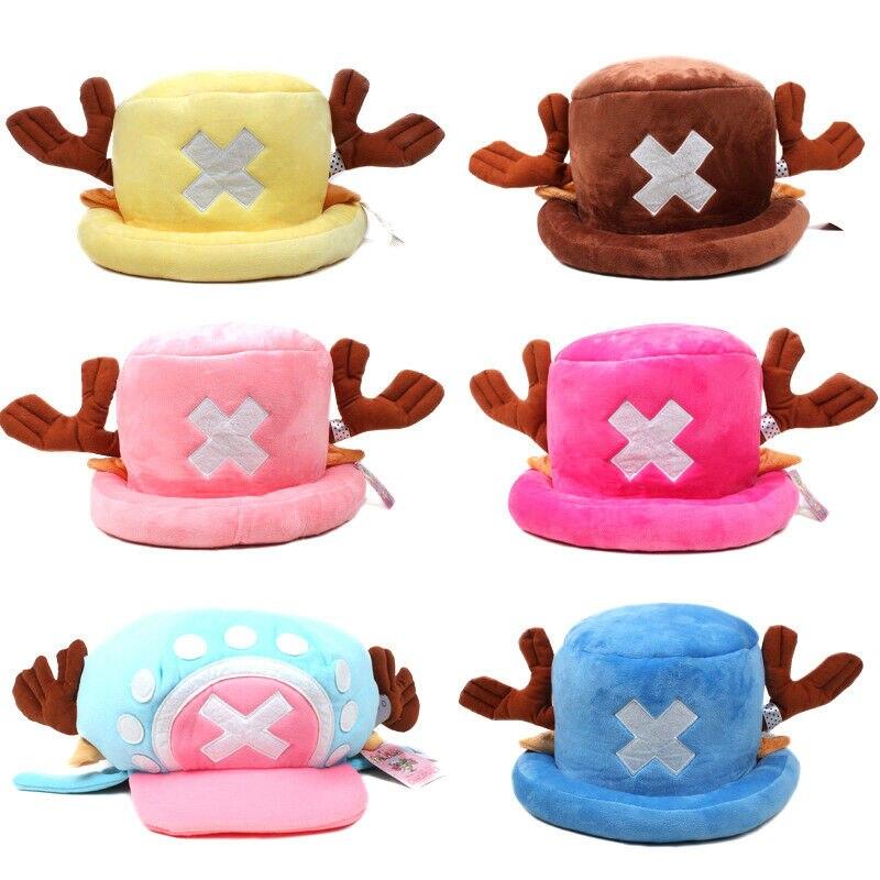 Funny Anime Hats One Piece Tony Chopper 2 Years Later Cap Japanese Cartoon Cosplay Plush Winter Hat Women Gifts Halloween Gift недорого