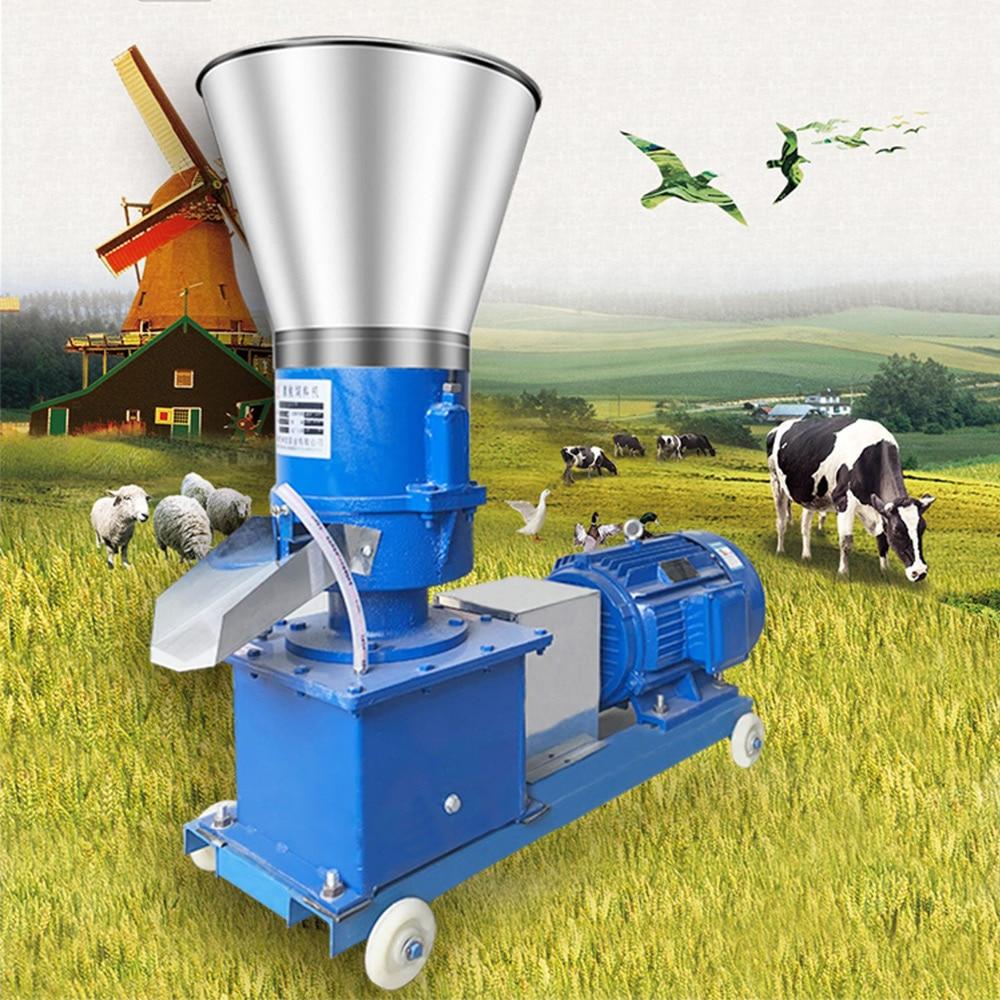 220V 380V Pellet Mill Multi-function Feed Food Pellet Making Machine Household Animal Feed Granulator 100kg/h-120kg/h michael westendorf l food waste to animal feed