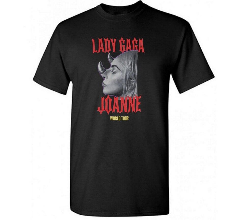 Camiseta do tamanho grande da rua da camisa do t t dos topos da excursão do mundo de lady gaga joanne