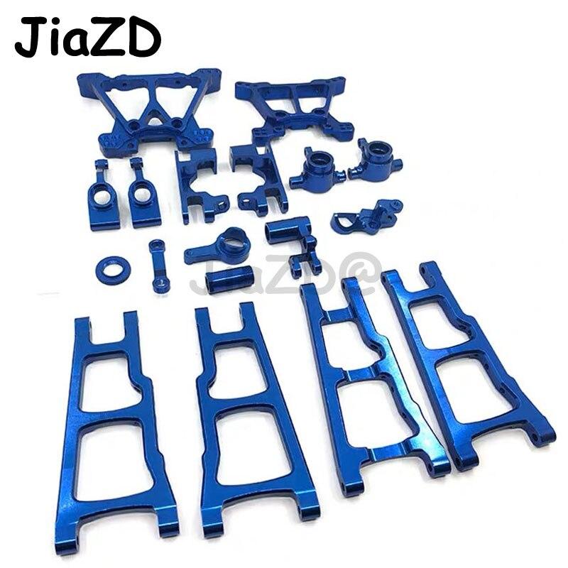 1 conjunto de liga alumínio metal kit peças do chassi atualização para traxxas slash 4x4 1/10 rc caminhão carro peças acessórios w001