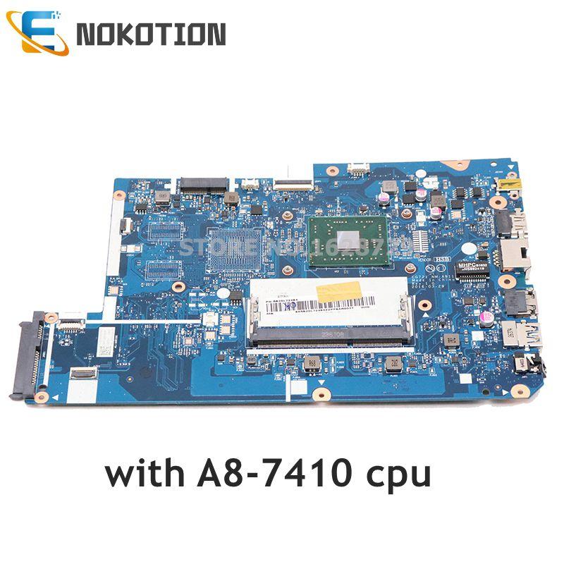 NOKOTION لينوفو 110-17ACL اللوحة المحمول A8-6410 CPU DDR3 5B20L72484 CG721 NM-A911 الرئيسي مجلس اختبار كامل