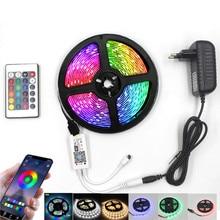 WIFI led bande lumineuse 12v RGB lumières étanche smd 2835 bande bandes lampe IR 24 44 touches Bluetooth contrôle néon blanc/blanc chaud