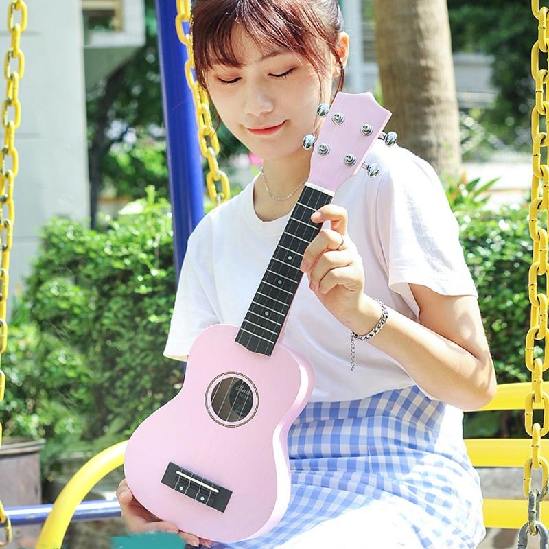 Pink Black Ukulele Adults Children Practice Portable Wooden Carbon Fiber Ukulele Concert Guitarra Stringed Instruments