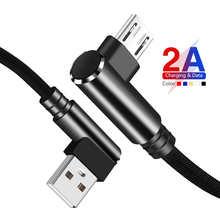 27 см 1m 1,5 m 2m 3M Usb кабель с 2A 90 ° двойной локоть кабель Micro Usb для быстрой зарядки высокой скорости для Samsung Sony Huawei Nokia PS4 контроллер