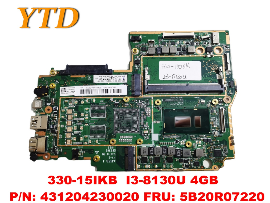 الأصلي لينوفو 330-15IKB اللوحة المحمول 330-15IKB I3-8130U 4GB PN 431204230020 FRU 5B20R07220 اختبار جيد الشحن المجاني
