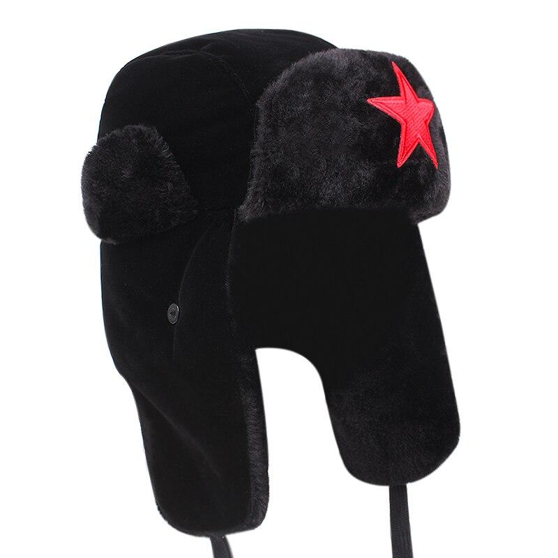 2021 new winter men's aviator hat warm thick artificial fur earmuffs hat snow ski hat unisex